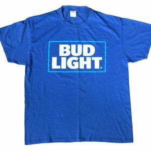 Bud Light Blue Logo Large Graphic tee T-shirt
